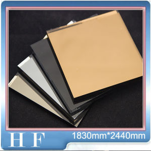 Color Mirror Decor Stuff Float Glass 3mm 4mm 5mm 6mm Antique Mirror Color Gold Bronze Mirror