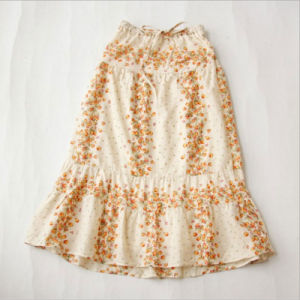 Japanese Cotton Floral Pattern Skirt with Falbala for Girl Clothes pictures & photos