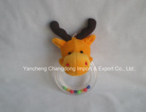Plush Reindeer Toys with Ring for Babys pictures & photos