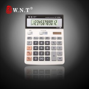 12 Digits Dual Power Desktop Calculator with Solar Power