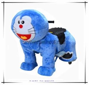 Cute Doraemon Animal Rides Electric Animal Plush Car