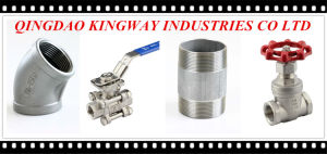 3-PC Screwed Ball Valve with Mounting Pad pictures & photos