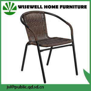 Outdoor Patio Furniture Brown Wicker Metal Dining Chairs (WXH-020) pictures & photos