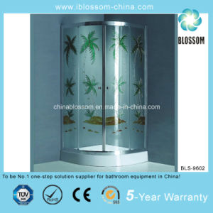 Modern Colorful Glass Bathroom Shower Cabin (BLS-9602) pictures & photos
