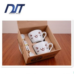 Smiling Face Ceramic Coffee Cups Set Korean Style Ceramic Cup pictures & photos