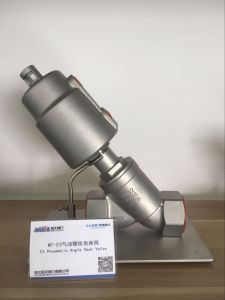 Manufacturer High Quality Stainless Steel Screwd Pneumatic Angle Seat for Vegetable Oil Valve