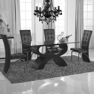 Stainless Steel PU Leather Dining Room Table Chair (ET65 & EC54) pictures & photos
