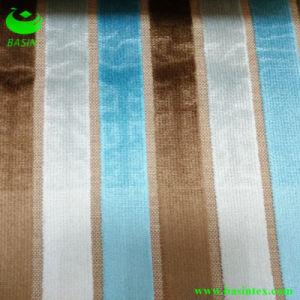 Three Colors Stripe Velvet Sofa Fabric (BS4012-17) pictures & photos