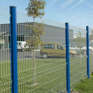 blue Color PVC Coated Welded Fence for Airport pictures & photos