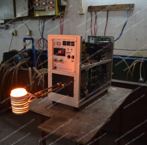 High Frequency Induciont Heating Machine with Melting Gold (HF-15KG+2KG Melting Frunace) pictures & photos