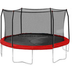 15FT Round Red Trampoline with 6 Legs and Safety Enclosure pictures & photos