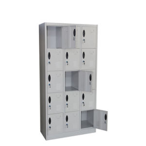 Kd Structure 15 Doors Steel Shoes Locker, Wall Unit Cupboard for School pictures & photos