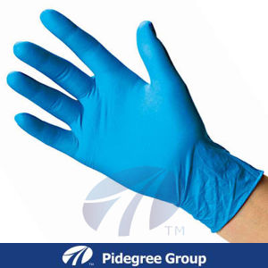 Nitrile Exam Gloves with Blue Color pictures & photos