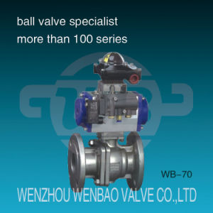 Pneumatic Actuated 2 Way Flanged Floating Ball Valve pictures & photos