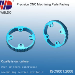Blue Anodize Aluminum Ring CNC Turning Machinery Precision Parts pictures & photos