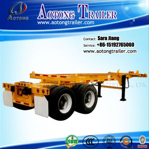 20ft-40ft Extendable Sliding Frame Skeleton Container Trailer Chassis pictures & photos