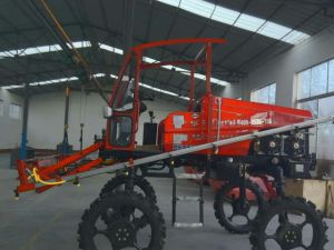 Aidi Brand 4WD Hst Self-Propelled Fog Boom Sprayer for Paddy Farm and Field pictures & photos