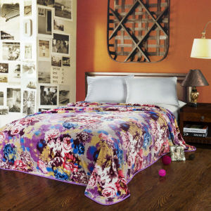 100% Polyester Printing Super Soft Micro Fleece Flannel Blanket