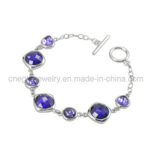 Charming Purple Crystal Bracelet 925 Silver Bracelet Jewelry (B010657)