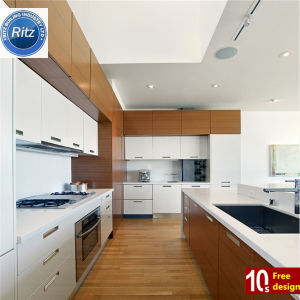Modern Design Good Quality PVC Kitchen Home Furniture White Color Kitchen Cabinet pictures & photos