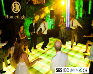 Night Club Disco DJ Light White Acrylic RGB Color Portable Interactive DMX512 LED Dance Floor for Sale pictures & photos