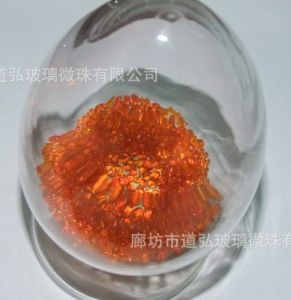 Colour Glass Beads-Orange No. 3 pictures & photos
