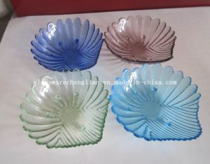Solid Color Shell-Shape Glass Plate (P-032) pictures & photos