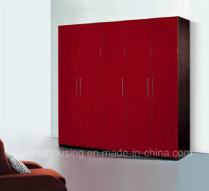 Modern Fashion Garments Racks in Red Lacquer Finish