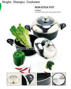 Coated Alloy Aluminium Non-Stick Frying Pan Pot Stockpot for Cookware Sets Sx-Yt-A014 pictures & photos