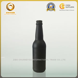 Hot Sales 330ml Matte Black Beer Glass Bottle with Crown Top (516) pictures & photos