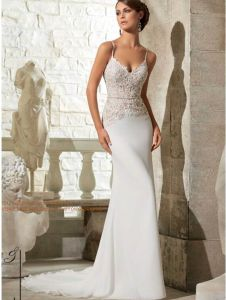 2015 See-Through Body Slim Bridal Wedding Dress (WD5312) pictures & photos