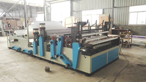 Full Automatic Toilet Coreless Paper Roll Making Machine pictures & photos