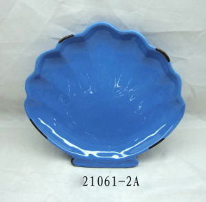 Tableware Ceramic Shell Plate (HL005C21061-2A)