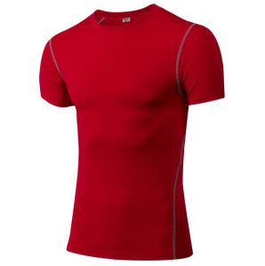 Wholesale Running Tights Training Sport Spandex Short Sleeves Dry Fit Men′s T Shirt pictures & photos