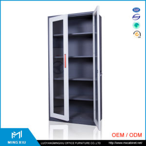 Henan Mingxiu Modern Steel Office Furniture 2 Swing Glass Door Metal File Cabinet / Steel File Cabinet pictures & photos