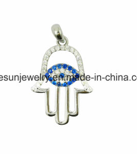 925 Sterling Silver Hand with Greek Eye Pendant pictures & photos
