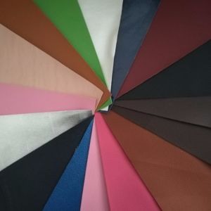 SGS Certification Marks Artificial Leather Shoe Toothpick Multicolor PVC Leather pictures & photos