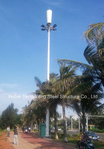 Microwave Communication Single Pipe Steel Tower pictures & photos