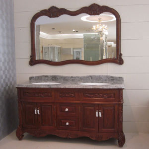 Oppein Antique Amber Red Oak Wood Bathroom Furniture (op12-p42-160) pictures & photos
