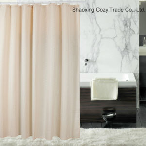 Supper Market Hot Sale Cheap 100%Polyester Flocking Shower Curtain pictures & photos