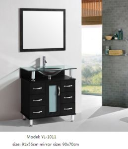 Bathroom Furniture Vanity with Glass Sink