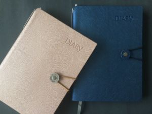 Leather Cover Diary with Daily Planner pictures & photos