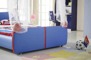 Latest Modern Design Spiderman Children Leather Bed (HCB011) pictures & photos