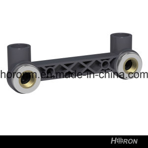 PVC-U Sch80 Water Pipe Fitting (DOUBLE COPPER THREAD ELBOW)