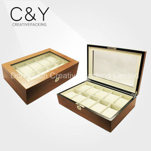 10 Slots Wooden Watch Packaging Boxes Luxury Wooden Watch Box pictures & photos