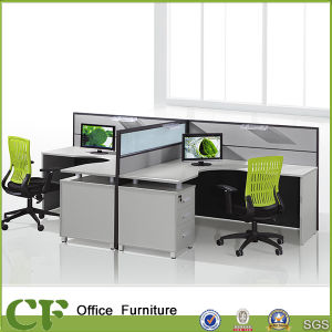 L Shpaed Two Seats Small Office Cubicle pictures & photos