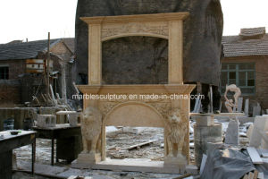 Double Marble Fireplace Mantel for Indoor Decoration Sy-Mf314 pictures & photos