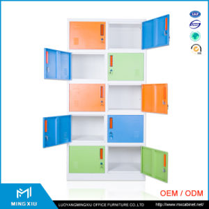 High Quality School Using Steel Lockers Cabinets / 10 Door Steel Locker pictures & photos