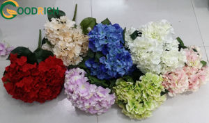 Touch Soft Velvet Hydrangea Bouquet Aritificial Flower for Decoration pictures & photos