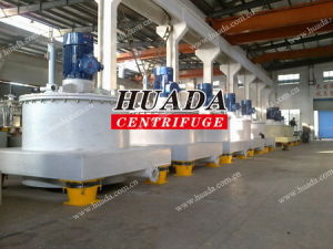 Paut Scraper Bottom Discharge Centrifuge Machine with Top Mounted Motor pictures & photos